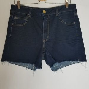 American Eagle hi-rise shortie stretchy jean short